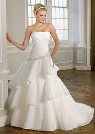 gorgeous wedding dresses buy cheap organza with embroidery removable bow asymmetrical