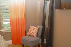 Neutral Curtains Decor Design Ideas Orange Ombre Curtains Contrast The Neutral Decor