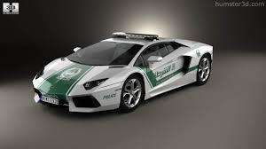 police lamborghini aventador 360 view of lamborghini aventador police dubai 2013 3d model