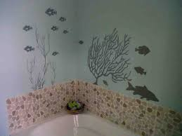 picture of blue and black sea world funny bathroom wall decor