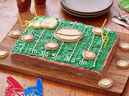 football cake day chocolate football cake recipe food network kitchen