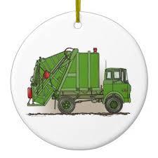 garbage truck ornaments zazzle