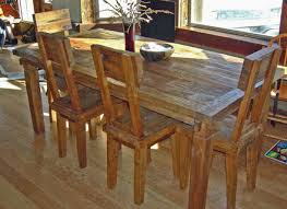 Rustic Kitchen Table And Chair Sets Large Rustic Furniture - Reclaimed teak dining table and chairs