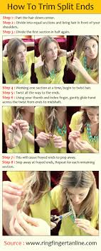 different ways to cut the ends of your hair how to trim split ends pintutorials hair pinterest hair
