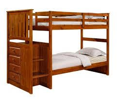 Wooden Bunk Bed With Stairs Outstanding Wooden Bunk Bed With Stairs Carson Rustic Pine
