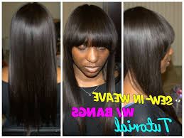 sew in weaves with bangs photo long sew in hairstyles with bangs full sew in weave with