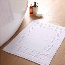 GSM Greek Key Bath Mat The Towel Shop - Bathroom mats and towels