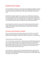 Personal Financial Statement Example by Actuarial Science Personal Statement Docshare Tips