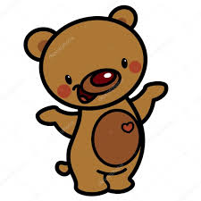 imagenes animadas oso dibujos animados vector lindo marrón feliz adorable osito con