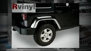jeep chrome putco chrome jeep wrangler fender flares youtube