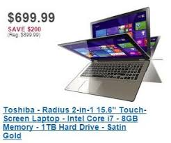 the best deals in laptop with core i7 black friday toshiba radius 2 in 1 15 6