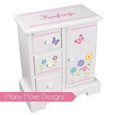 personalized girl jewelry box custom jewelry armoire personalized girl s jewelry box
