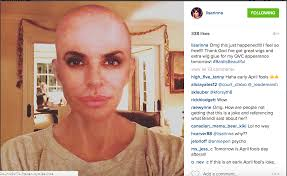 lisa rinna uploads a bald selfie is this a bad april fool u0027s joke