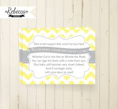 instead of a card bring a book bring a book instead of a card bring a book card printable chevron