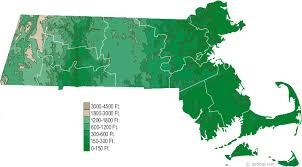 massachusetts on a map massachusetts physical map and massachusetts topographic map
