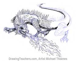draw dragon lizard