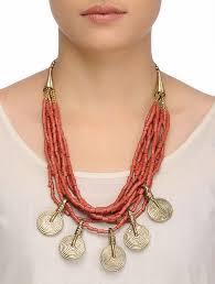 orange beaded necklace images Buy orange beaded necklace online at jpg