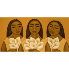 art print of original acrylic painting mexican women with zoom