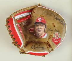Johnny Bench Autograph Autographed Johnny Bench Baseball Glove Art U2014 Sean Kane Baseball