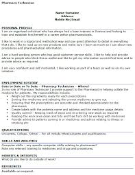 Resume Examples Pharmacy Technician by Neuroscience Section Materials