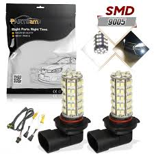 lexus yellow fog light capsule 2x 9005 white led bulbs w decoder set for daytime running lights
