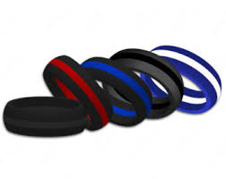 rubber wedding rings for thin line firefighter silicone wedding ring band heat