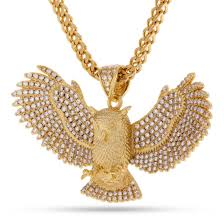 long gold owl necklace images The 14k gold cz horned owl necklace hip hop pendants king ice jpg