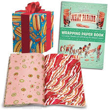 wrapping paper sheets meat parade wrapping paper book archie mcphee co