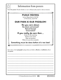 4th grade reading writing worksheets write like a reporter