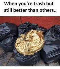 Meme Trash - when you re trash but still better than others meme on me me