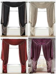 Two Tone Curtains Faux Silk Reversible Slot Top Sumptuous Curtains With Intricately