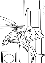 pink panther coloring picture