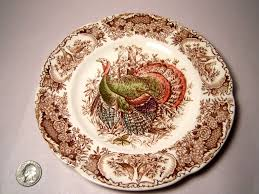 johnson bros turkeys brown american salad plate from