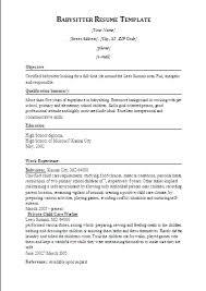 babysitting resume templates gfyork com