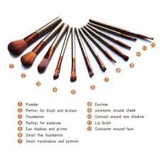 homeoculture naked3 professional kabuki makeup brushes set bamboo