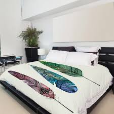 apache rainbow feather duvet cover white twin one bella