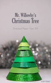 bella dia stacked paper christmas tree craft to go with mr