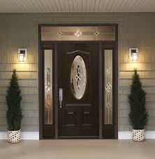 Fiberglass Exterior Doors With Sidelights Front Doors With Sidelights And Transoms Feldco
