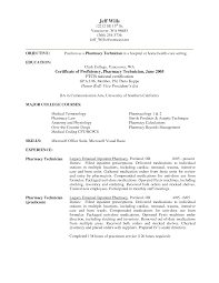 pharmacy technician resume exles pharmacy technician resume sle for hospital pharmacy technician