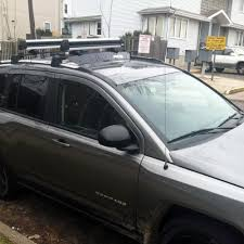 jeep grand cherokee kayak rack amazon com 2011 2016 jeep compass oe style roof rack cross bar