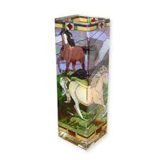 Stained Glass Vase Horse Frolic Stained Glass Vase