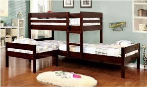 three bunk beds maxwell twin size low corner triple bunk bed espresso main jpg