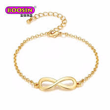 fashion infinity bracelet images China 2018 fashion simple gold plated infinity charm bracelet for jpg