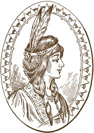 native american clipart person sewing pencil and in color native