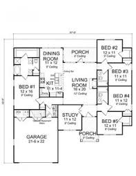 small 5 bedroom house plans 656176 traditional 5 bedroom 3 bath craftsman with office and