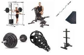 Weights And Bench Set Home Gym Bodybuilding Equipment Weights Benches Power Rack