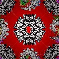 imagenes mandalas arabes colored mandala on a red white and gray baqckground vector