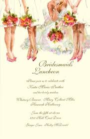 bridesmaids invitation bridesmaids luncheon oddballs let us design your invitations