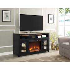 ameriwood furniture carver electric fireplace tv stand for tvs