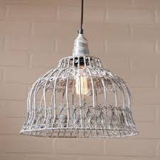 Flower Pendant Light Flower Industrial Cage Wire Pendant Light In Weathered Zinc Finish